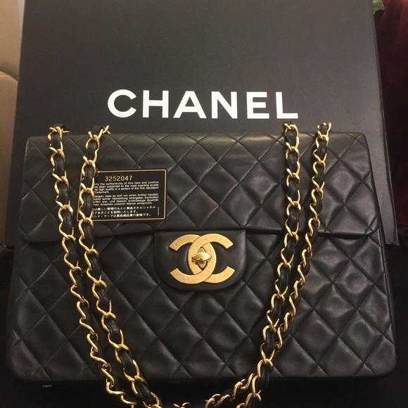 CHANEL Handbags - 100% Authentic Chanel XL Jump Maxi Flap Bag fec2e9a079bf5
